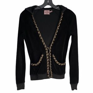 JUICY COUTURE CHIC VELOUR TRACK HOODIE JACKET